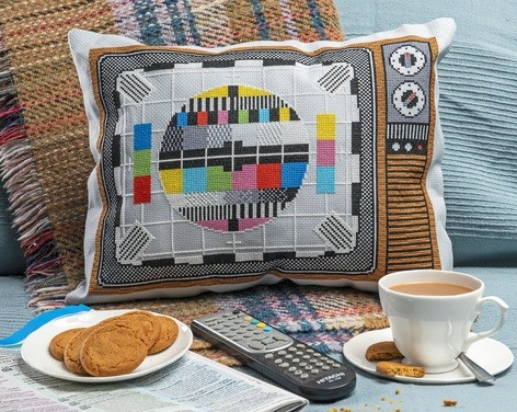 Cross Stitcher Project Pack - Tuned In Cushion XST349