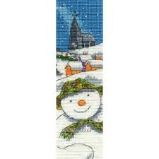 BL1023-64 - The Snowman Bookmark Cross Stitch Kit