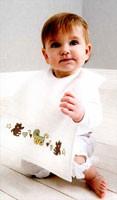 Rico Baby Tie on Bib - Ecru (30 x 34cm)