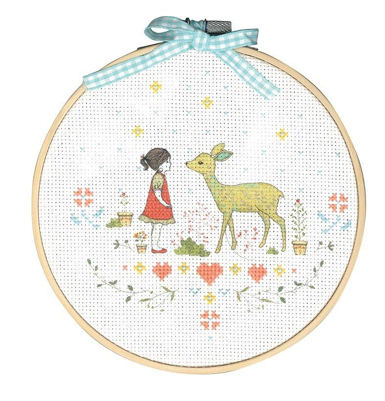 TMRCRX2 - Nature Girl Printed Cross Stitch Kit