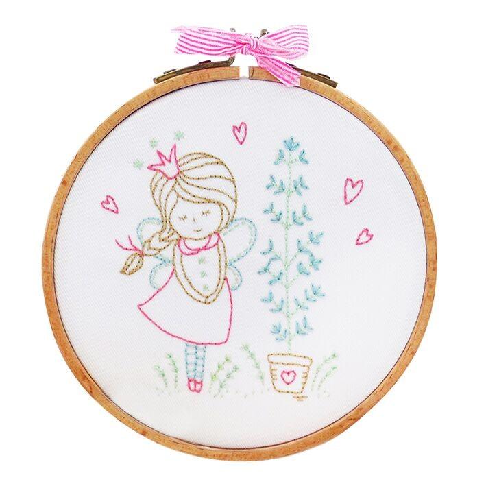 TMREMB3 - Shy Fairy Printed Embroidery Kit