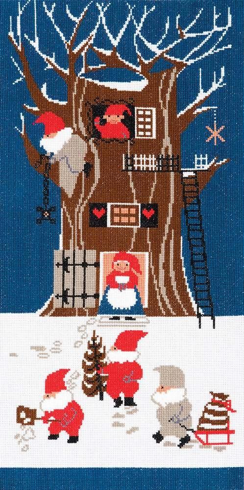 BL111609 - Tomte Tree House Cross Stitch Kit