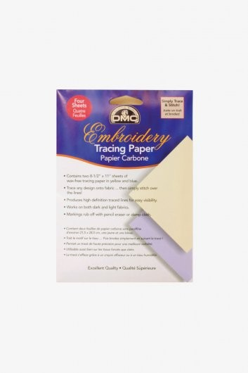 DMC Embroidery Tracing Paper 8.5 x 11in - Pack of 4