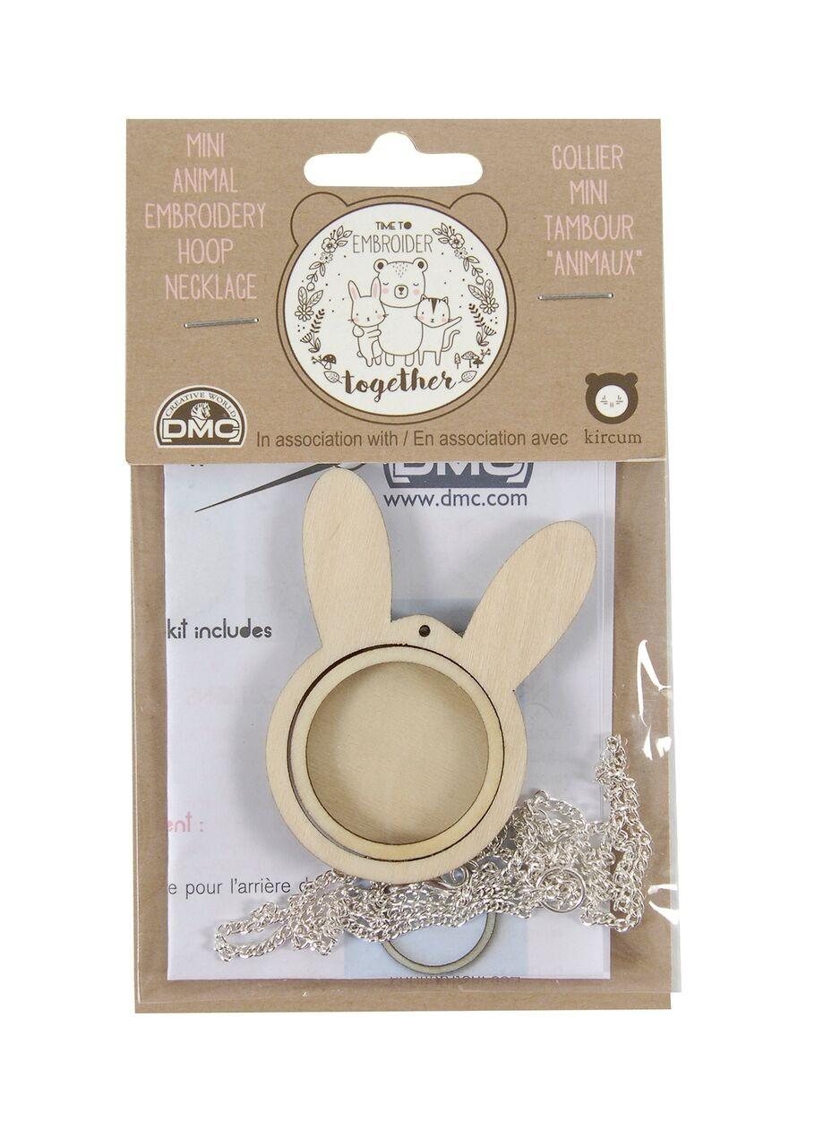 U2055 - DMC Mini Rabbit Embroidery Neclace