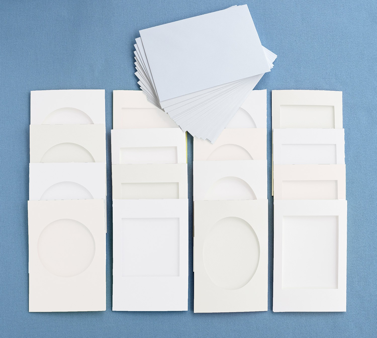 White All Shapes 16 Card Pack