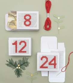 Stitchable Gift Boxes White - issue 338. Use discount code CHRISTMAS18
