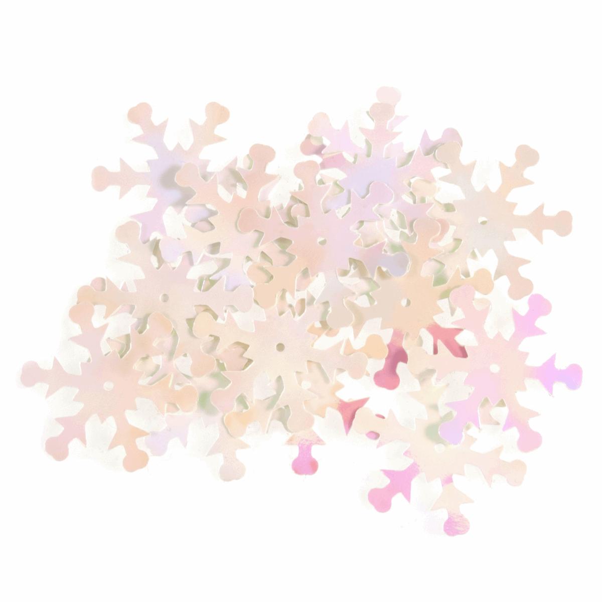Snowflake Sequins White