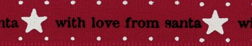 Jomil - 15mm With Love From Santa Ribbon - Red