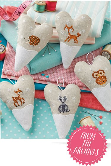 Woodland Hearts Stitching Guide