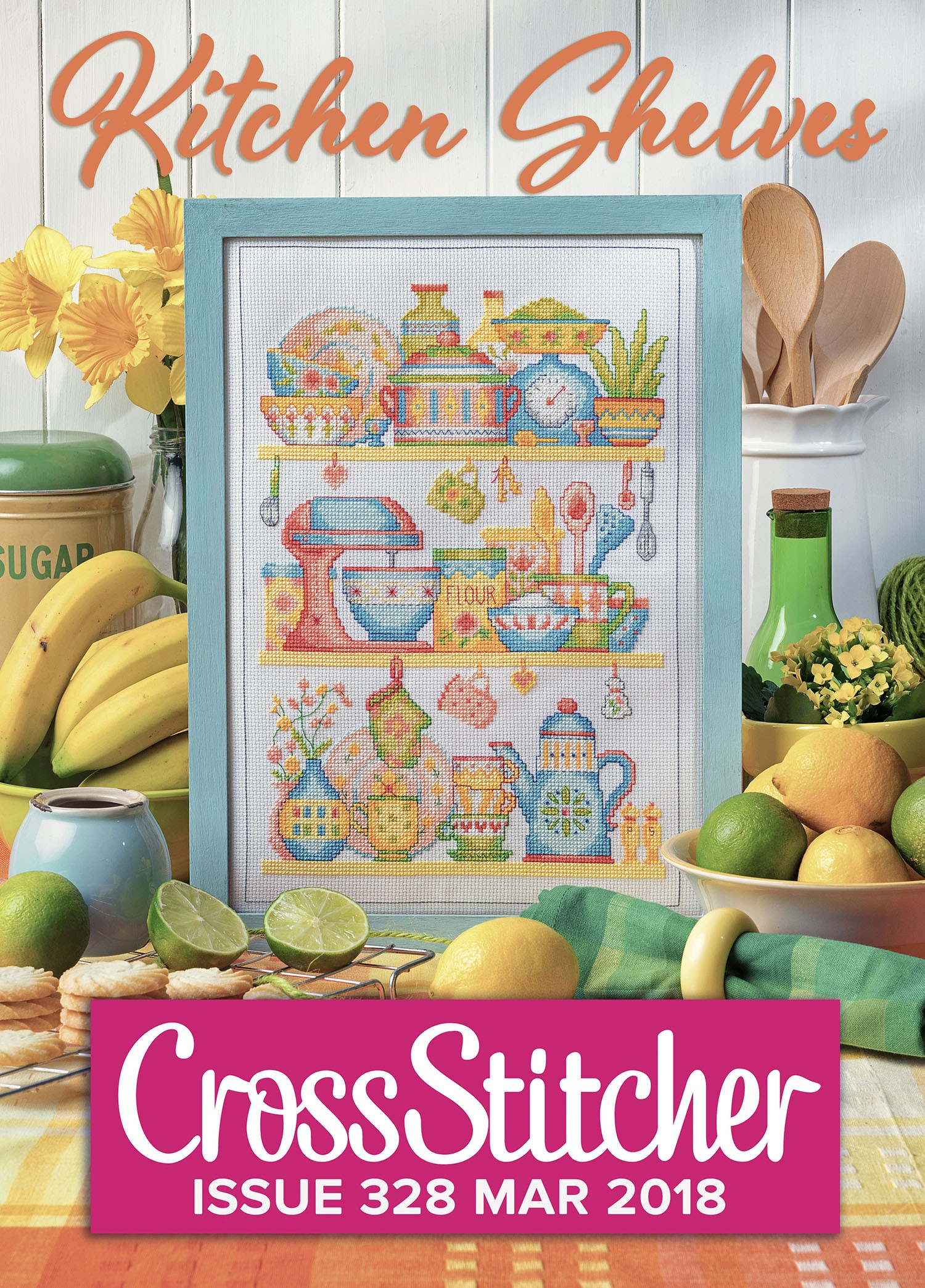Cross Stitcher Project Pack - Kitchen Shelves Issue 328