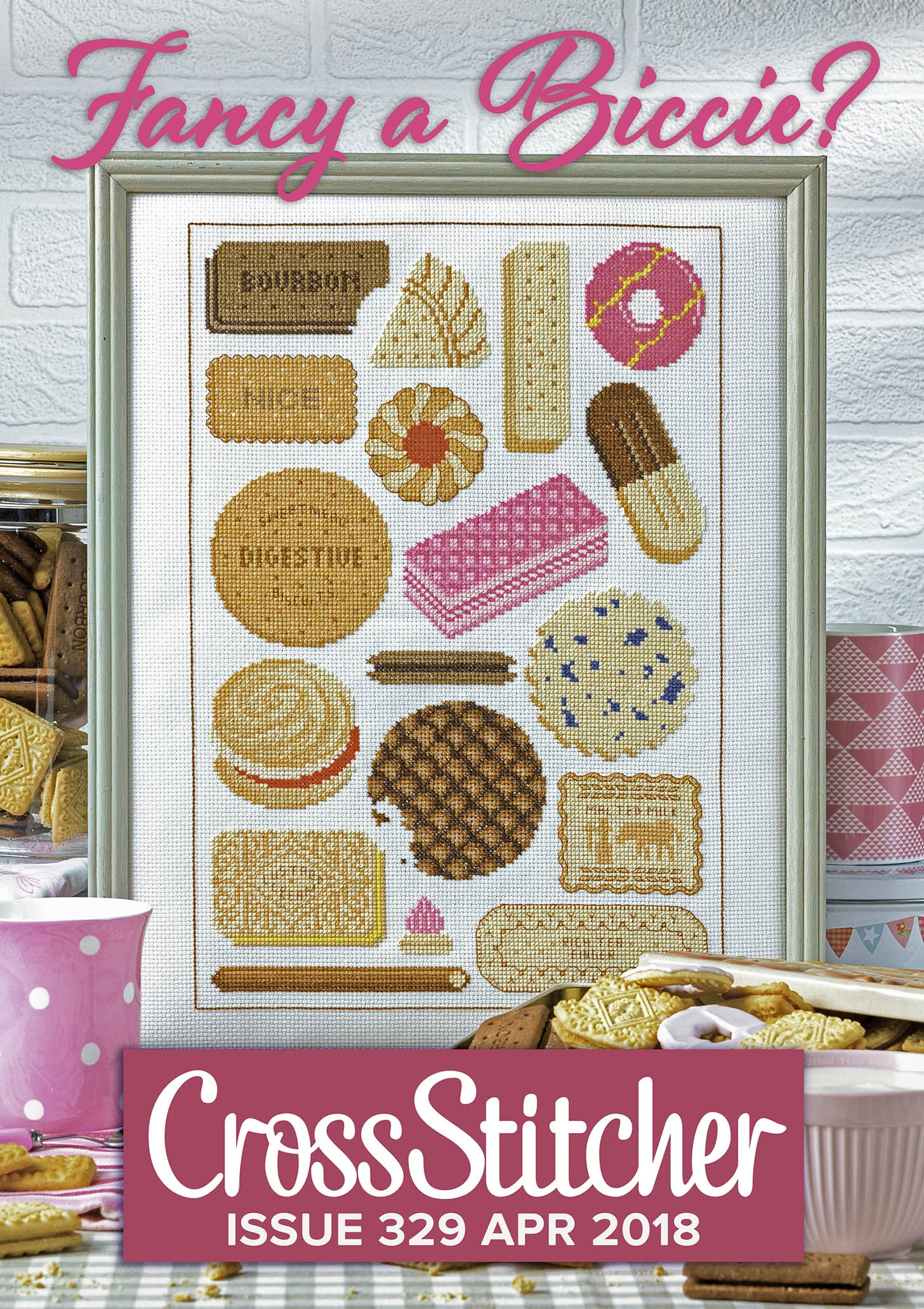 Cross Stitcher Project Pack - Fancy a Biccie XST329