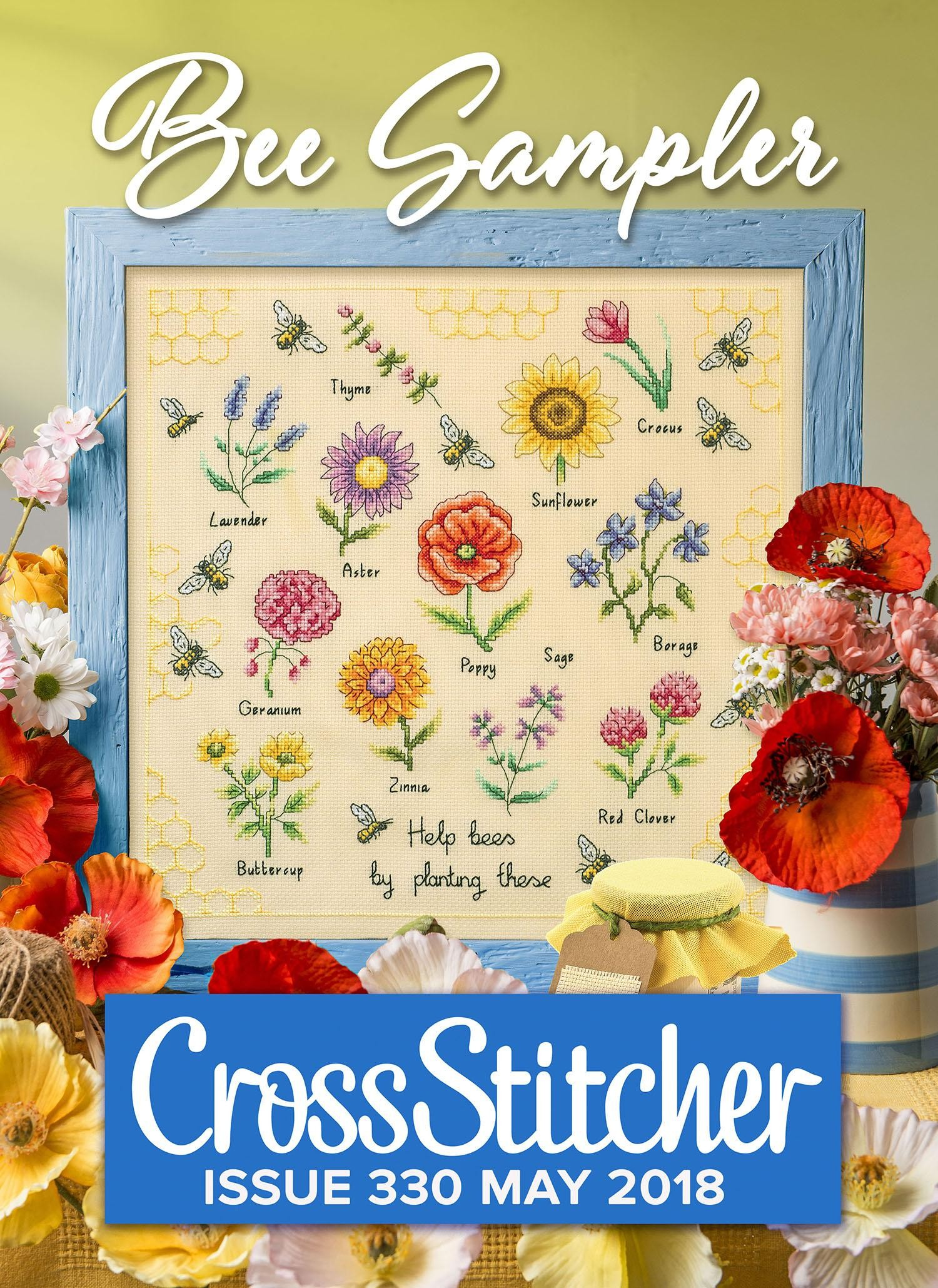 Cross Stitcher Project Pack - Bee Sampler Issue 330