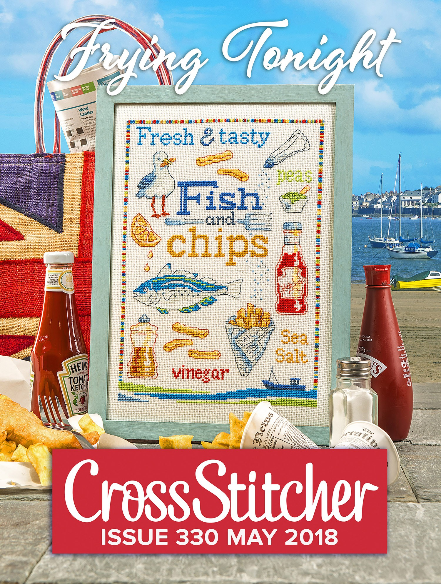 Cross Stitcher Project Pack - Frying Tonight Issue 330
