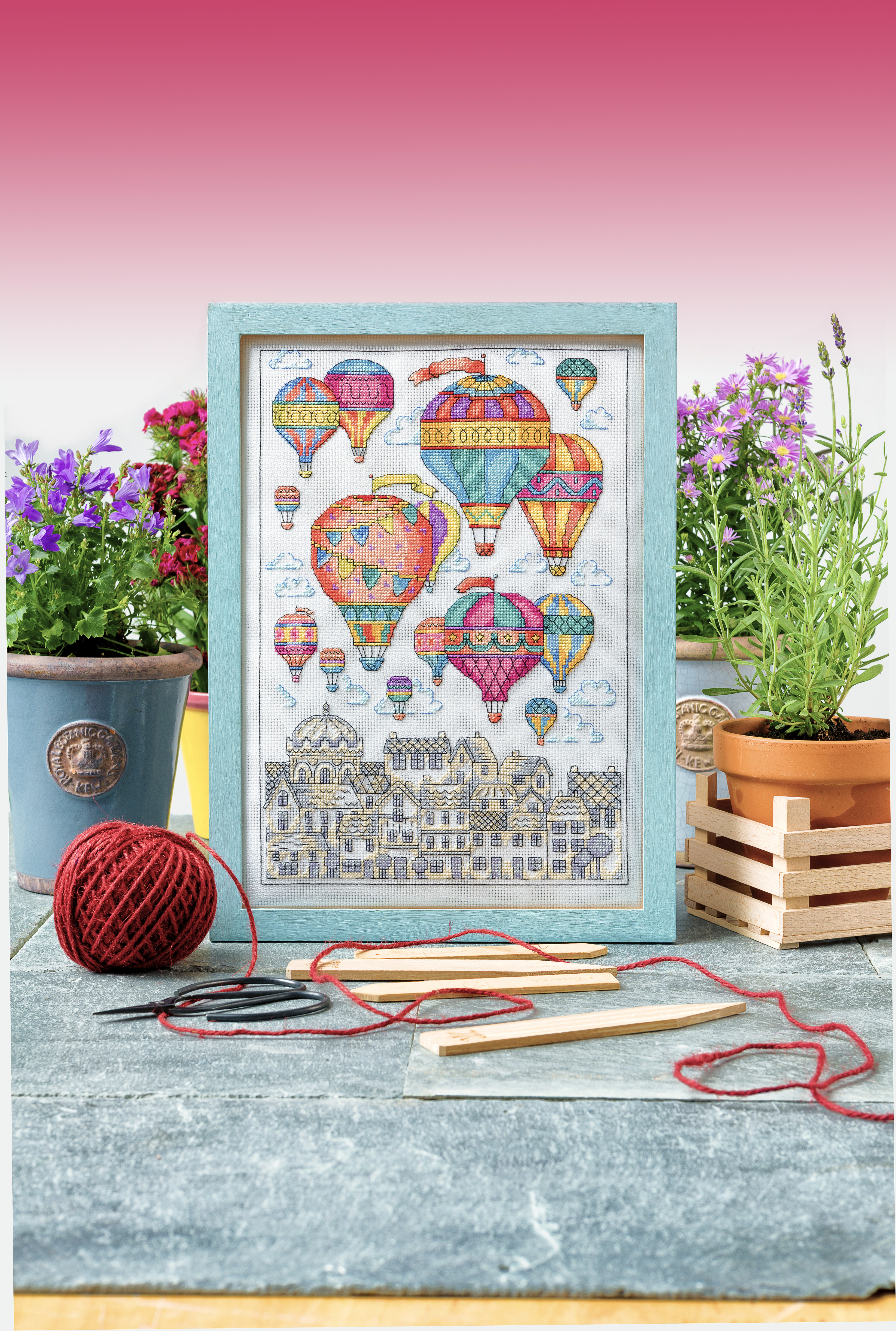 Cross Stitcher Project Pack - Hot Air Balloons