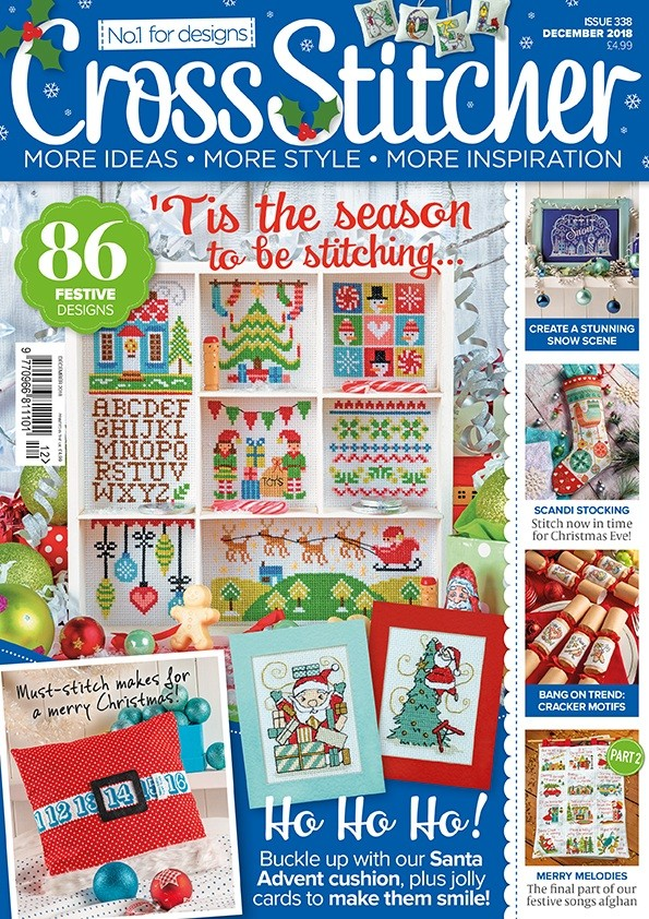 Cross Stitcher Magazine issue 338 - December 2018
