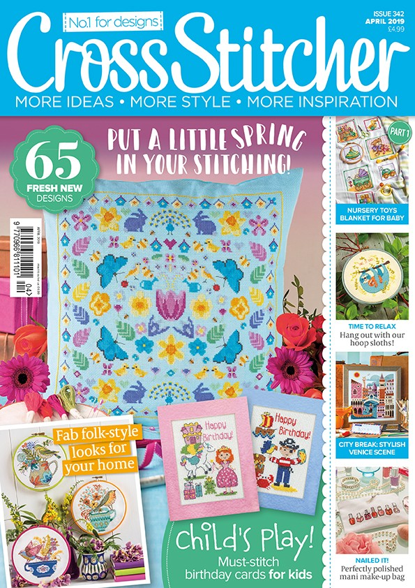 Cross Stitcher Magazine issue 342 - April 2019