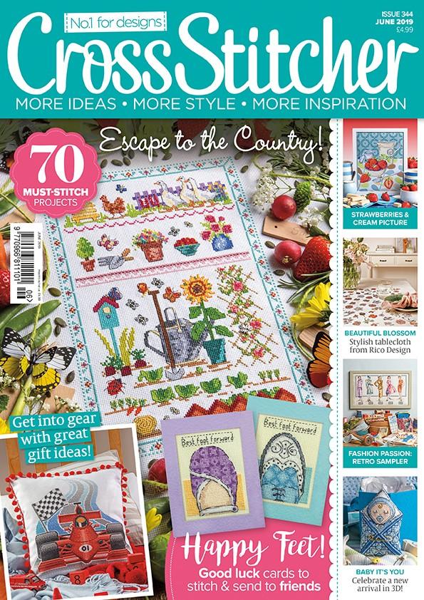 Cross Stitcher Magazine issue 344 - June 2019