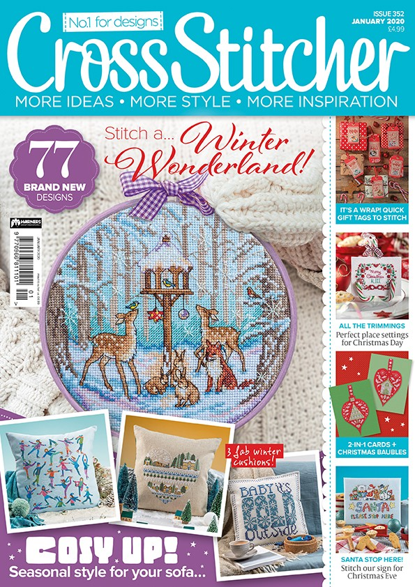 Cross Stitcher Magazine issue 352 - January 2020