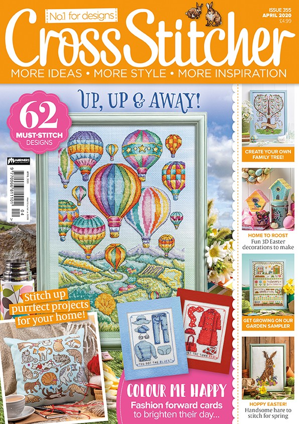 Cross Stitcher Magazine issue 355 April 2020