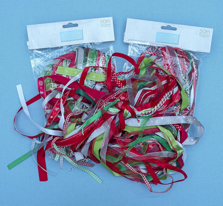 Christmas Ribbon 50 metre bundle