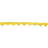 Yellow Narrow Pom Pom Trim