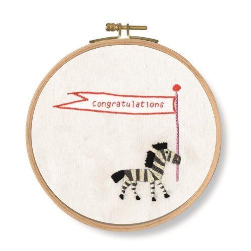 DMC Congratulations! Zebra Printed Embroidery Kit - TB130