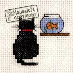 Mouseloft Cat and Goldfish - 004-208stl