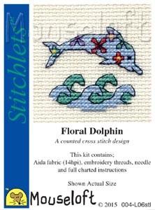 Mouseloft Floral Dolphin - 004-L06stl