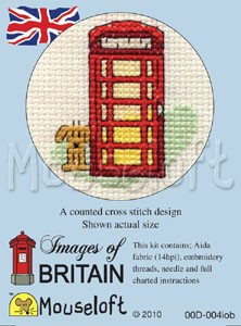 Red Telephone Box Mouseloft Images of Britain Cross Stitch Kit