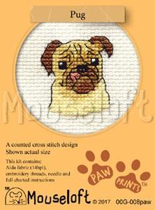 Mouseloft Paw Prints Pug - 00G-008paw