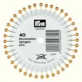 Prym Pearl Headed Pins - Gold 40mm L, 40 per Pack