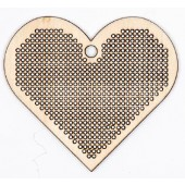 Wooden Pendant To Stitch, Heart