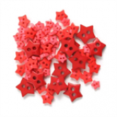 Craft Buttons - Red Stars