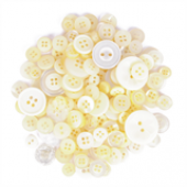 Craft Buttons - Assorted Cream (60g Pack)