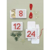 24 Advent Calendar Boxes to Embroider White