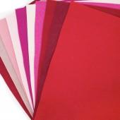 Felt Jelly Roll - Cherry colours 10