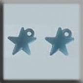 Glass Treasures 12045 - Very Small Domed Medium Star Matte Aqua
