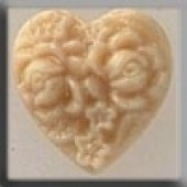 Glass Treasures 12066 - Cameo Heart Ivory