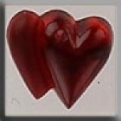Glass Treasures 12097 - Doubled Heart Ruby