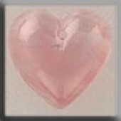 Glass Treasures 12100 - Medium Quartz Heart Pink