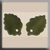 Glass Treasures 12144 - Medium Leaf Matte Olive