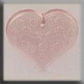 Glass Treasures 12182 - Medium Floral Heart P Rose