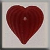 Glass Treasures 12207 - Medium Fluted Heart Matte Ruby