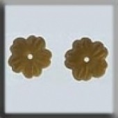 Glass Treasures 12210 - Petite Flower Matte Light Topaz