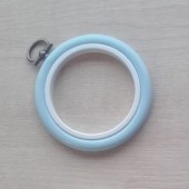 2.5in Round Coloured Flexi Hoop - Light Blue