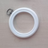 2.5in Round Coloured Flexi Hoop - White