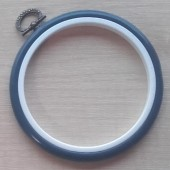 4in Round Coloured Flexi Hoop - Dark Blue