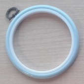 4in Round Coloured Flexi Hoop - Light Blue