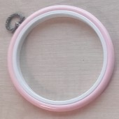 4in Round Coloured Flexi Hoop - Light Pink