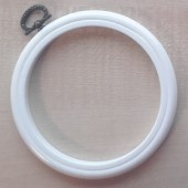 4in Round Coloured Flexi Hoop - White